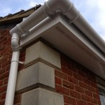 Fascia Vented Soffit & White Round Gutter