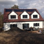 Artic White Cladding, Grey Fascia & Solar Panel Installation