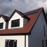 Dorma in Arctic White with Grey Fascia
