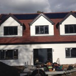 Solar Panel, Artic White & Grey Fascia